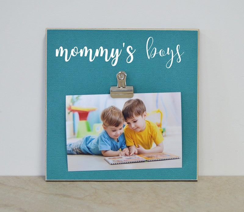 mommy's boys photo frame gift for mom mothers day gift