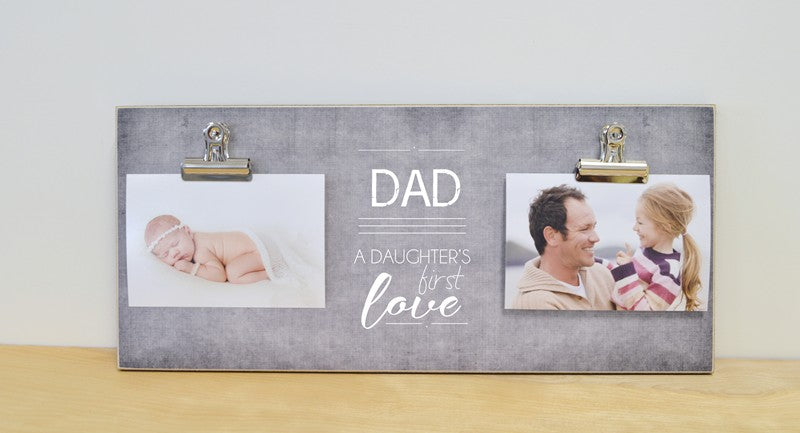 daddy daughter gift photo frame, dad - a daughter's first love