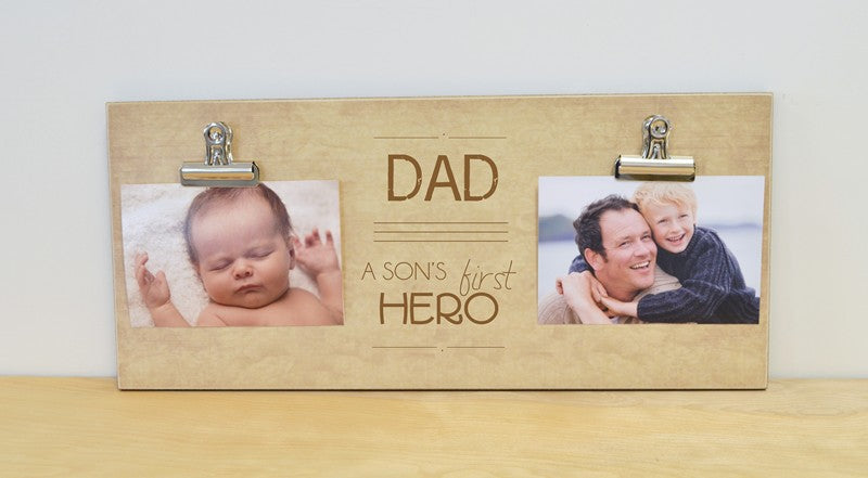 dad- a son's first hero photo frame, father's day gift for dad, christmas gift for dad, dad gift