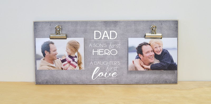 fathers day photo frame, sons first hero, daughters first love