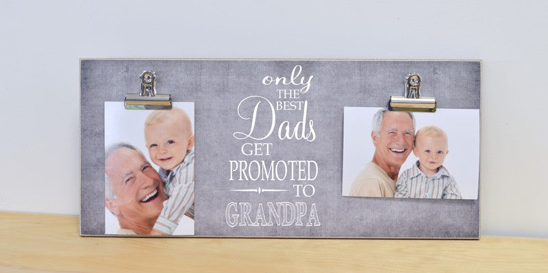 only the best dads get promoted to grandpa pregnancy announcement photo frame gift for new grandpa