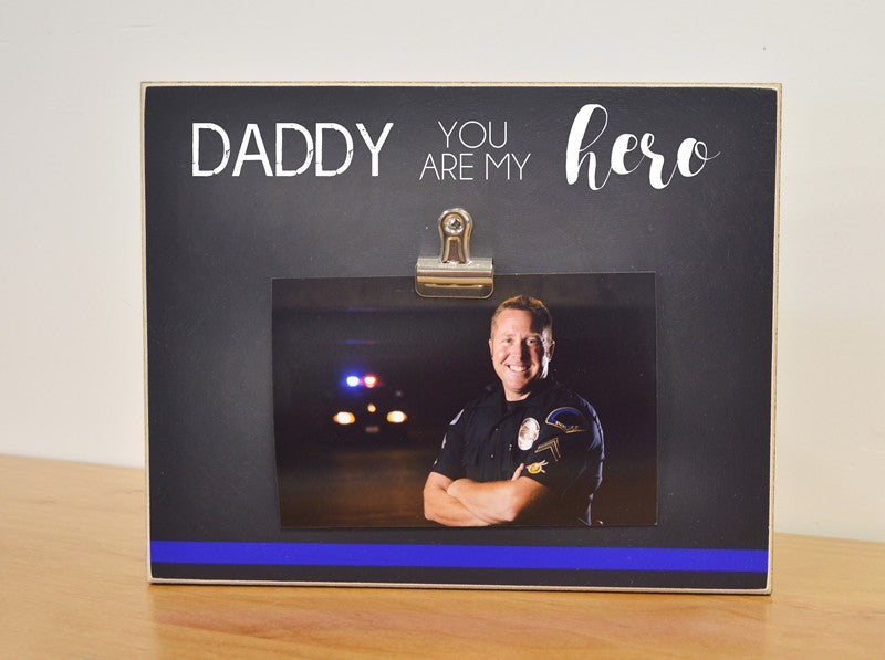 thin blue line, law enforcement officer gift for police officer, daddy gift