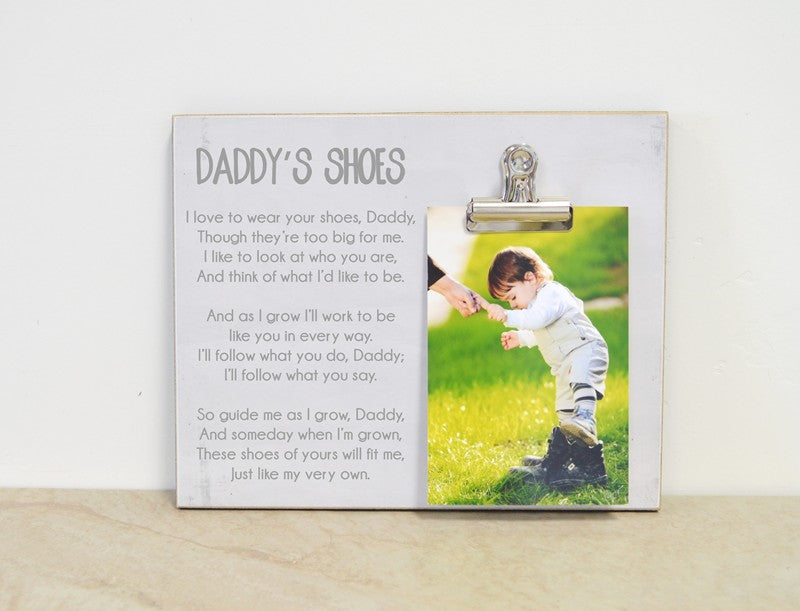 farmhouse frame, daddy's shoes fathers day gift for dad