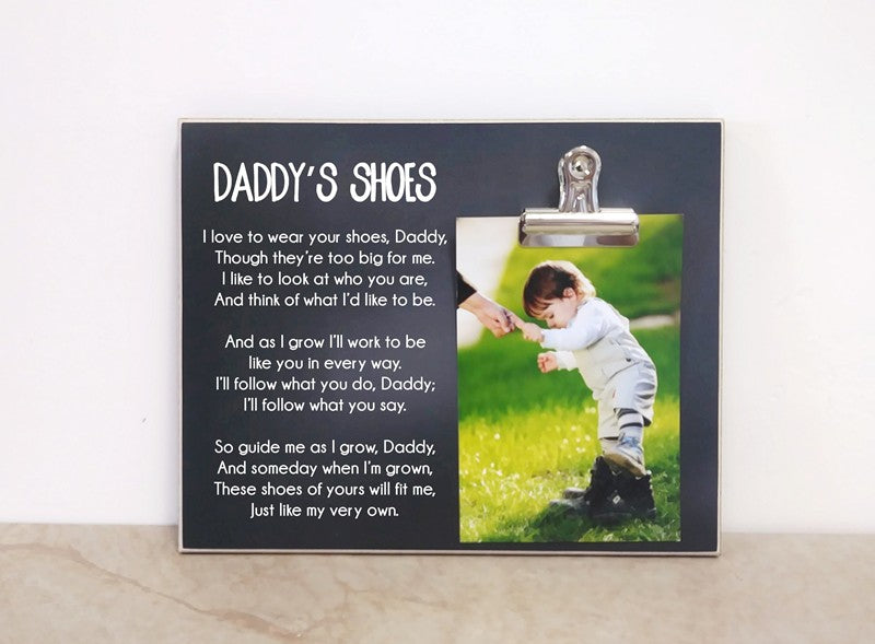 chalkboard photo frame father's day gift for dad gift, daddy's shoes picture frame