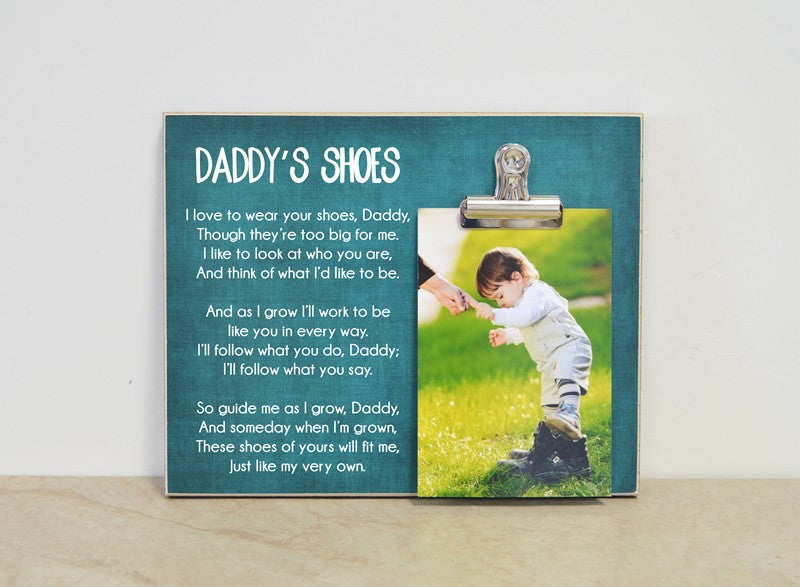 Daddy's shoes photo frame father's day gift for dad