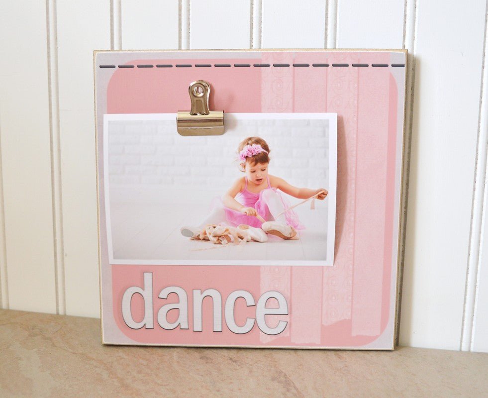pink dance photo frame, dance frame, gift for dancer