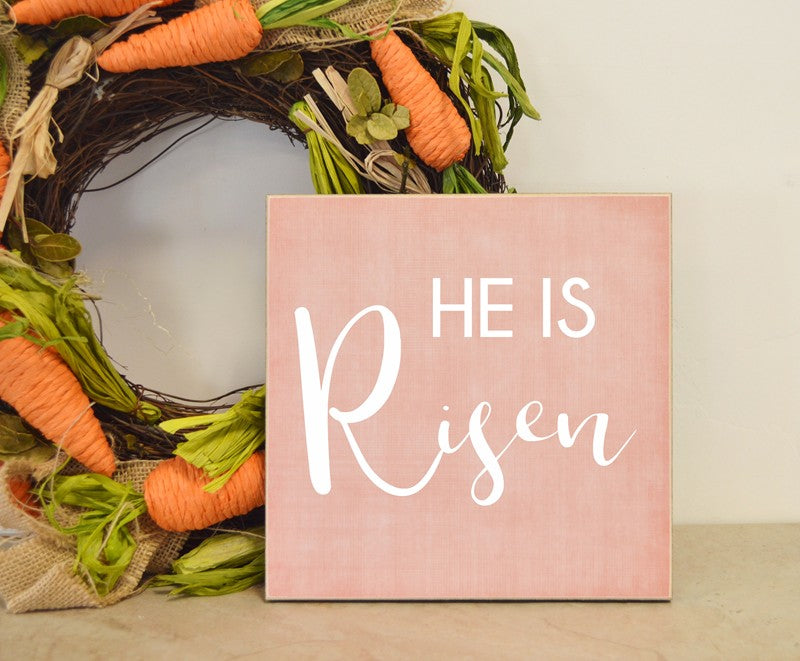 he is risen wooden sign, easter decor, spring decoration