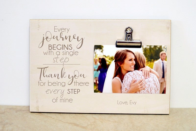 every journey begins with a single step - thank you gift for mother of the bride, father of the bride, parents of the groom