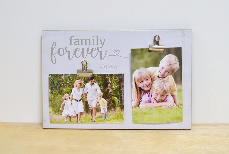 personalized gift for family, our family is forever photo frame