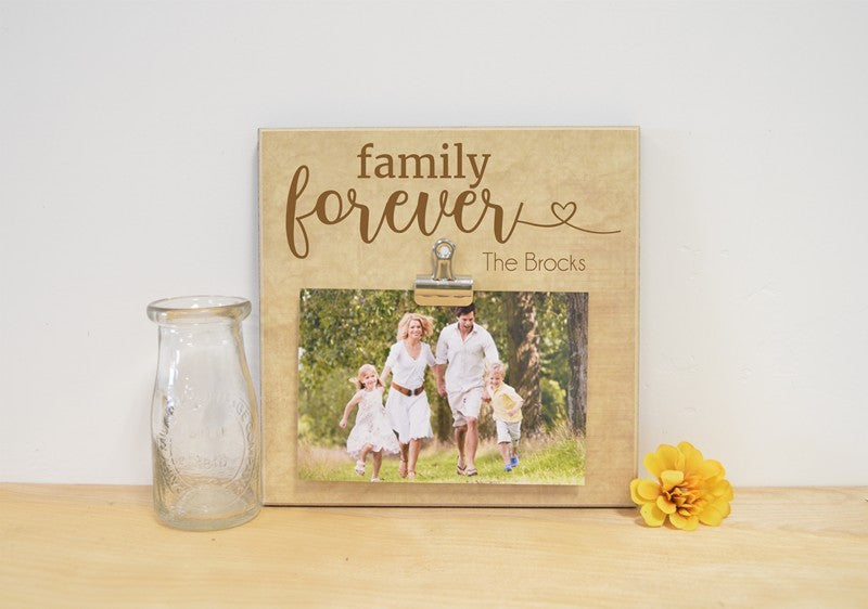family forever photo frame, picture frame for family, family picture frame, christmas gift for family, personalized photo frame