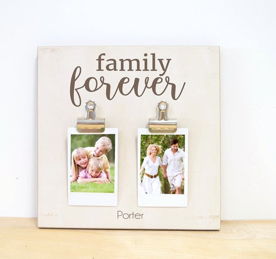 Family Forever Photo Frame - Fun for Instax or Polaroid Photos