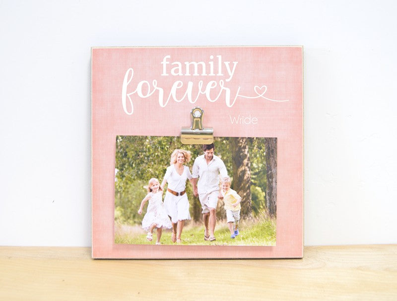 family forever picture frame , personalized gift for family, family gift