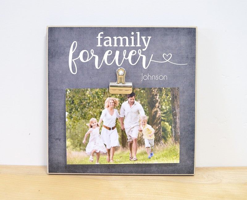 family forever gift for family photo frame, personalized family gift