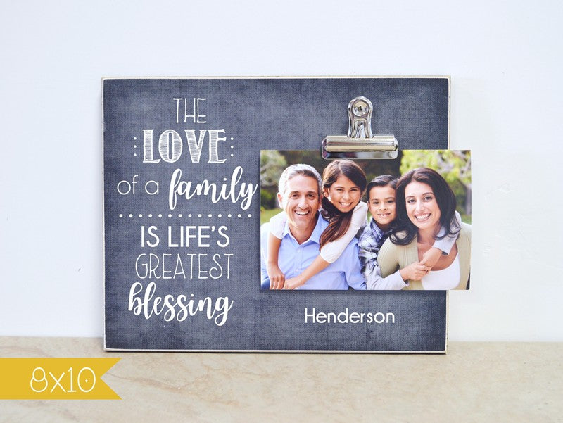 lifes greatest blessings photo frame - love of a family