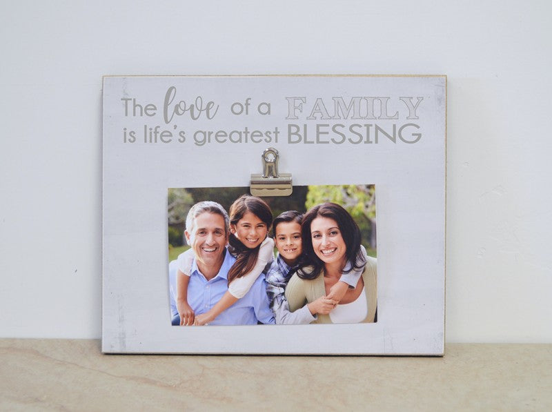 love of a family is lifes greatest blessing photo frame family gift