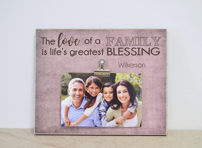 lifes greatest blessing family photo frame christmas gift for family
