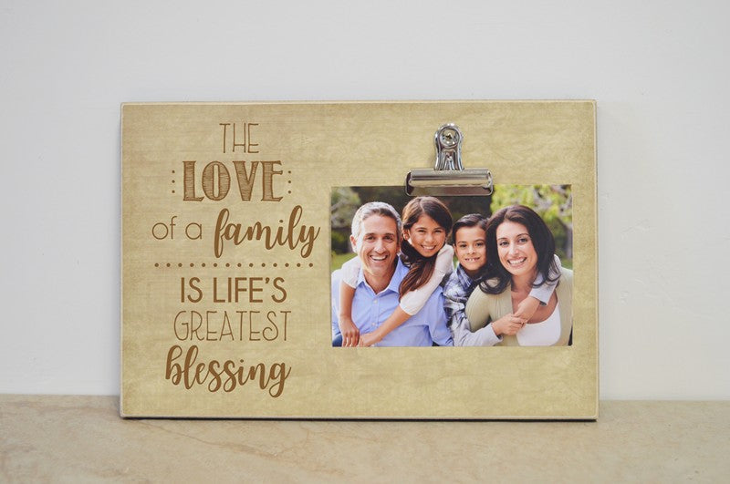 love of a family is lifes greatest blessings photo frame