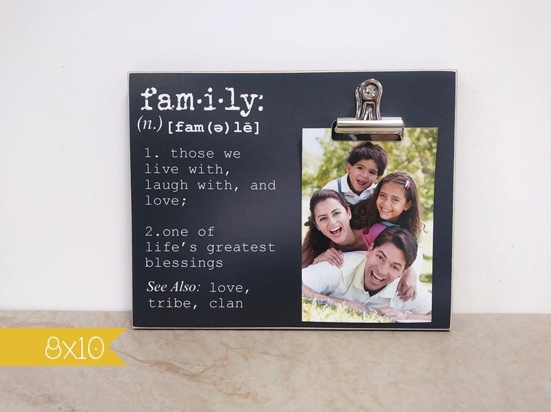 family definition photo frame, family gift, housewarming gift, moving gift, new family gift, wedding gift, adoption gift
