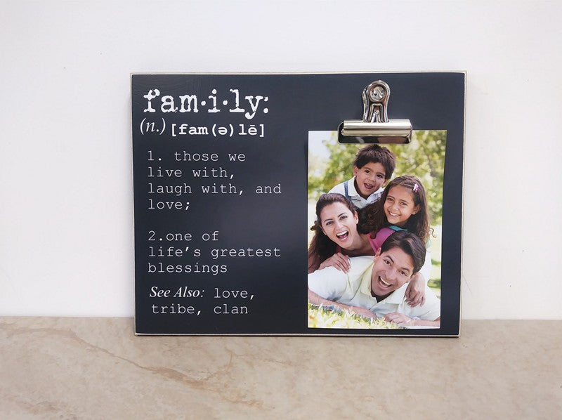 chalkboard family photo frame, family definition, custom gift for family