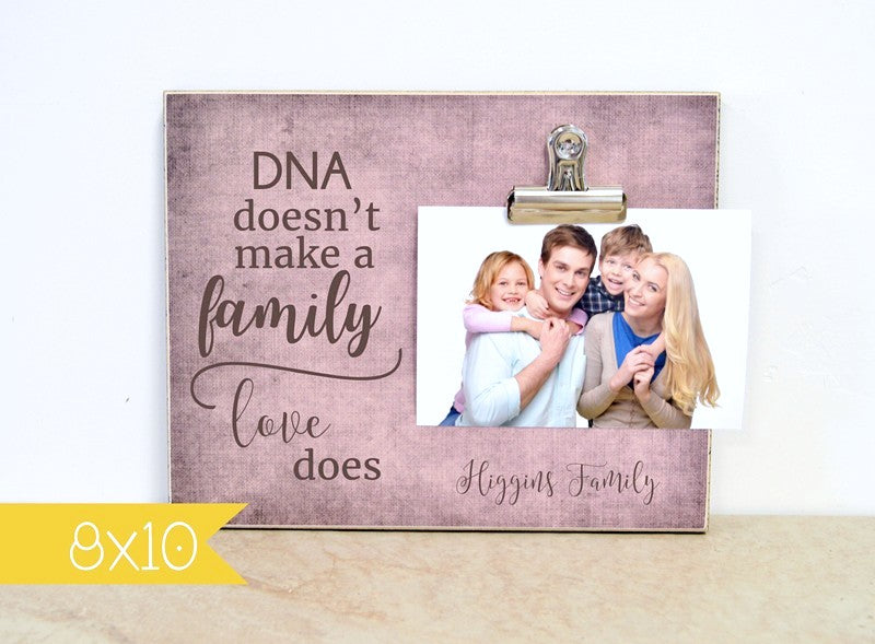 personalized picture frame love makes a family, adoptive family gift