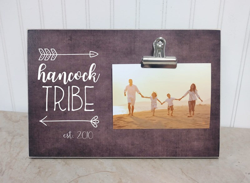 our tribe arrow frame, personalized picture frame gift for family, family gift, christmas gift, picture frame, photo frame,