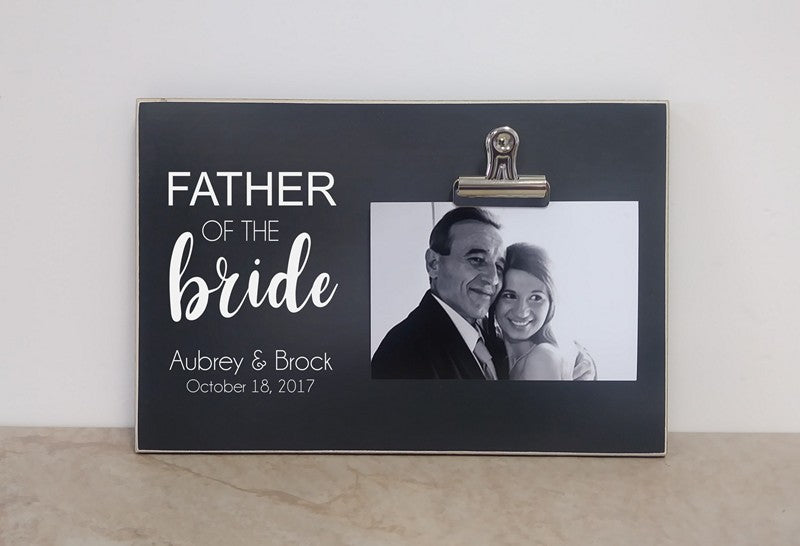 picture frame thank you gift for father of the bride