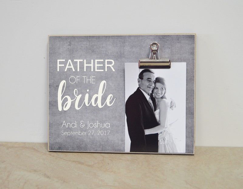 father of the bride photo frame gift