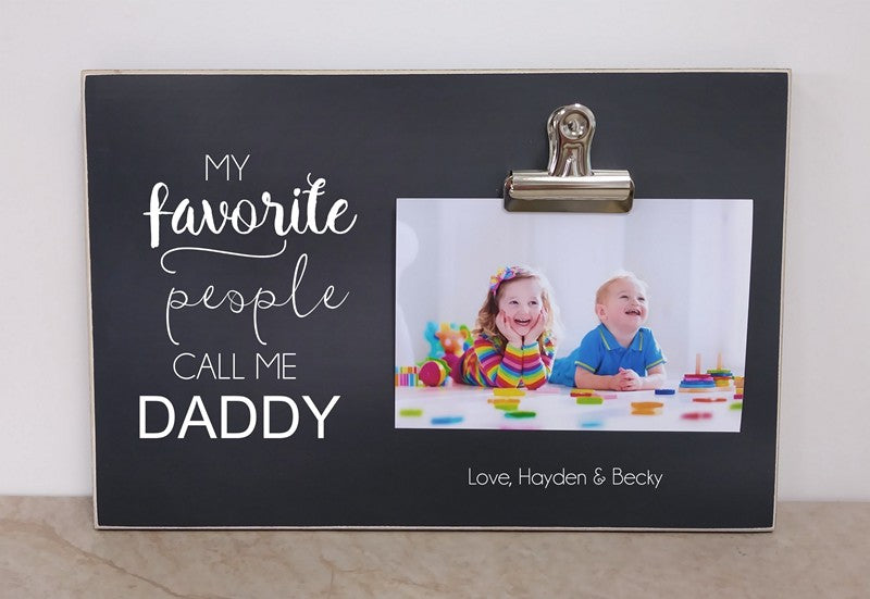 Daddy photo frame, father's day gift for dad, personalized picture frame, my favorite people call me daddy, daddy gift