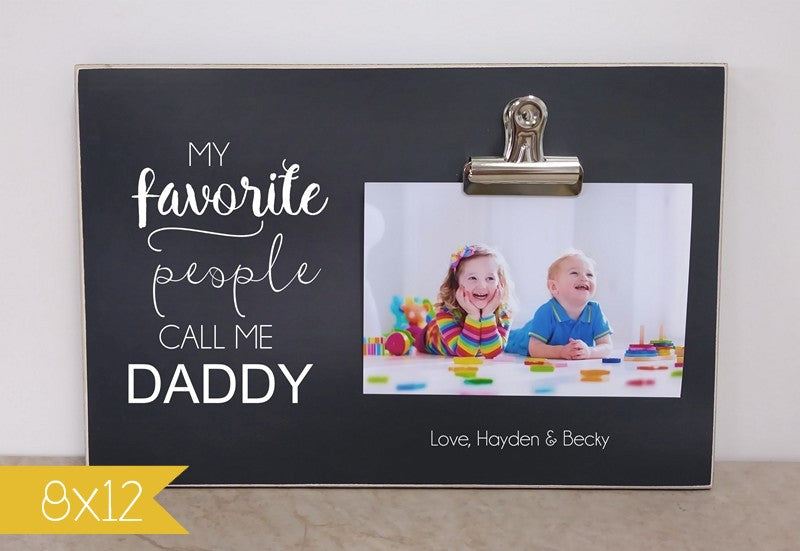 birthday gift for daddy, personalized picture frame, custom photo frame