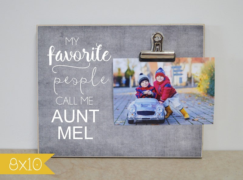 auntie gift, gift for aunt, personalzied photo frame, custom gift, custom picture frame