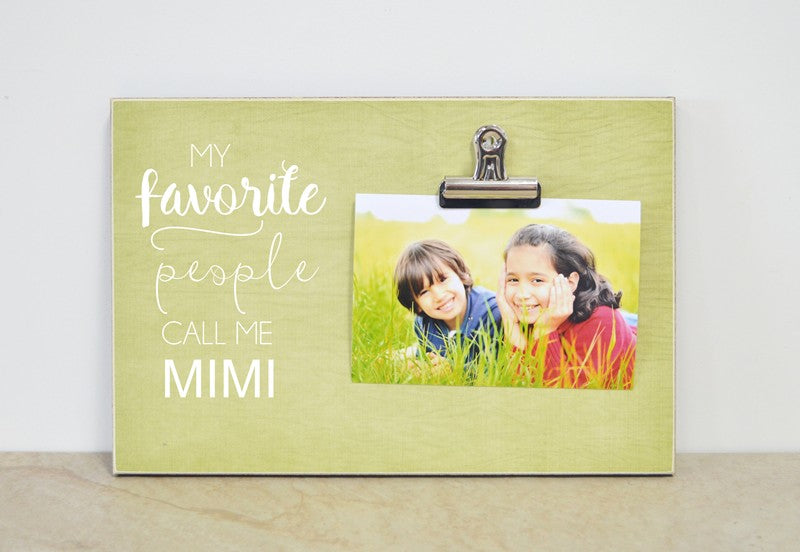 personalized gift for grandma, mother's day photo frame, custom picture frame, my favorite people call me grandma