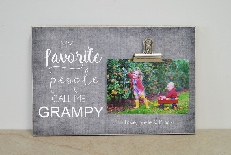 personalized gift for grandpa, grandpa photo frame, my favorite people call me grandpa, grandpa gifts, gift for grandpas, gift for papa, papa gift