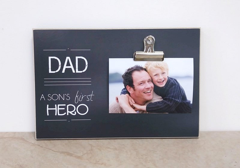 Son's First Hero, Father and Son Photo Frame