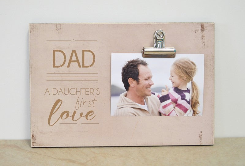 dad. daughter's first love 8x12 frame