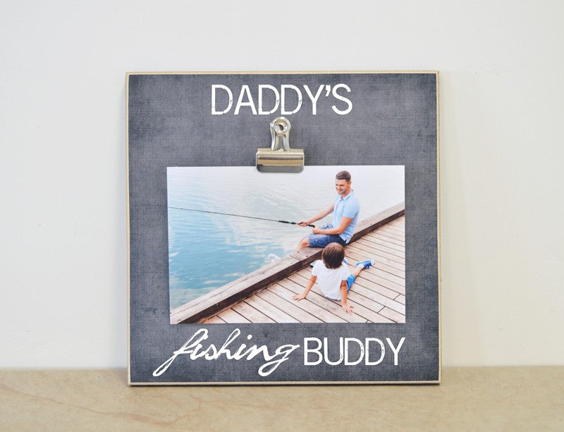 daddys fishing buddy photo frame gift for fathers day