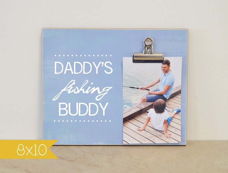 fathers day gift for daddy fishing buddy photo frame