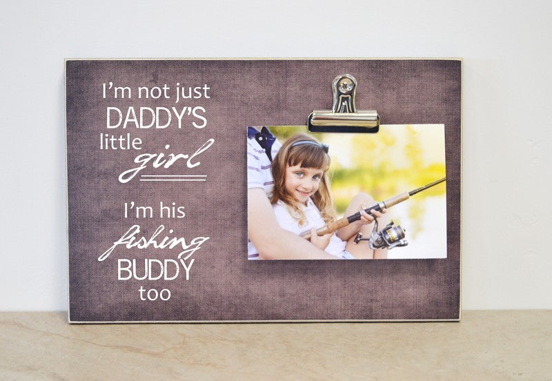 daddys little girl, little fishing buddy, frame for fisherman