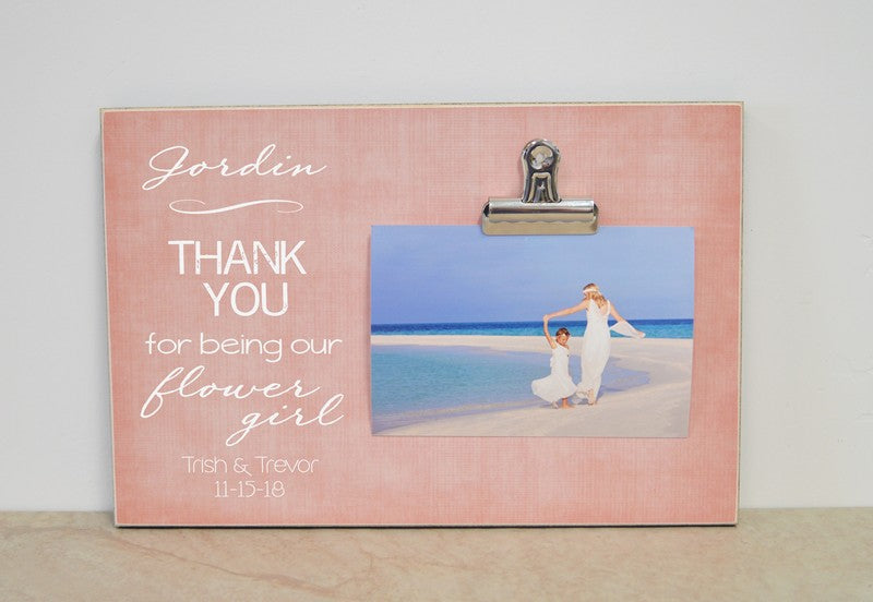Flower Girl Photo Frame Thank You Gift