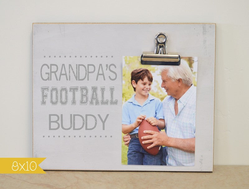 Grandpa's Football Buddy Frame