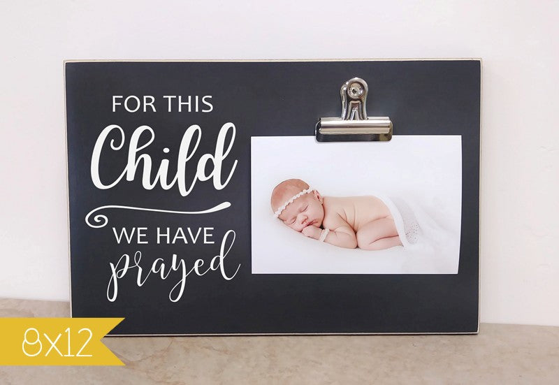 For This Child We Have Prayed Pregnancy Reveal Frame Dandelion