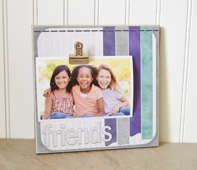 colorful friends picture frame, gift for friends, friendship gift