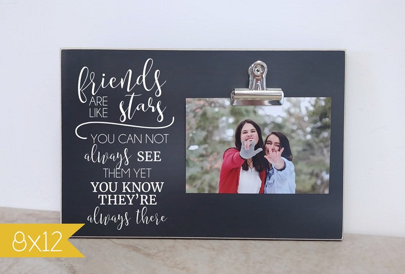 chalkboard photo frame, friends are like stars frienship gift