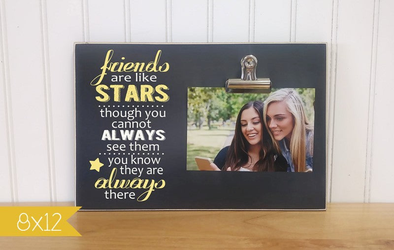 friends picture frame - friends are like stars