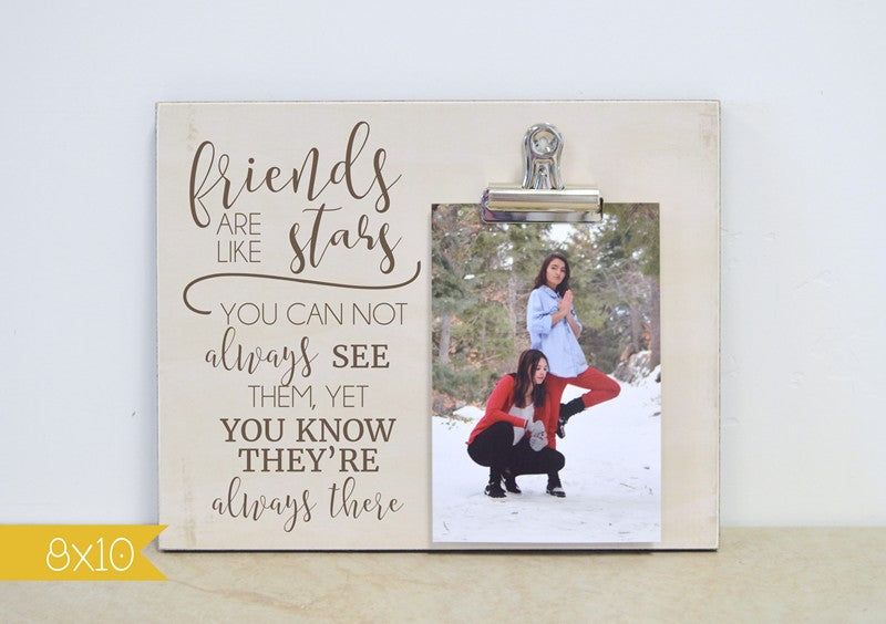 farmhouse picture frame - friends are like stars photo frame