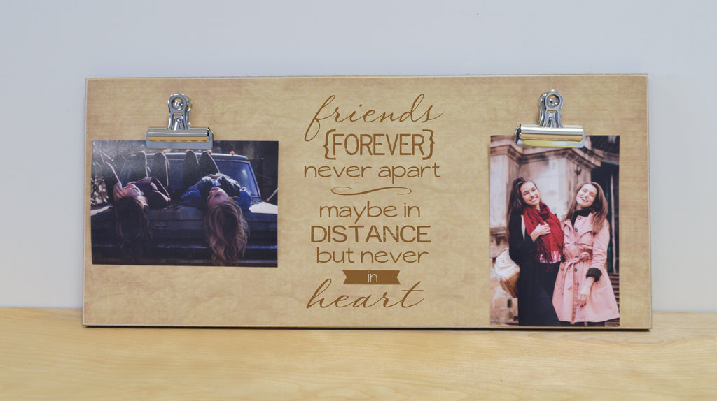 friends forever photo frame gift, moving away gift, custom photo frame, photo clip frame