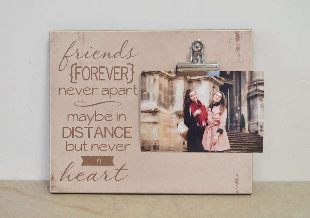 friends forever personalized photo frame, moving away gift for best friend