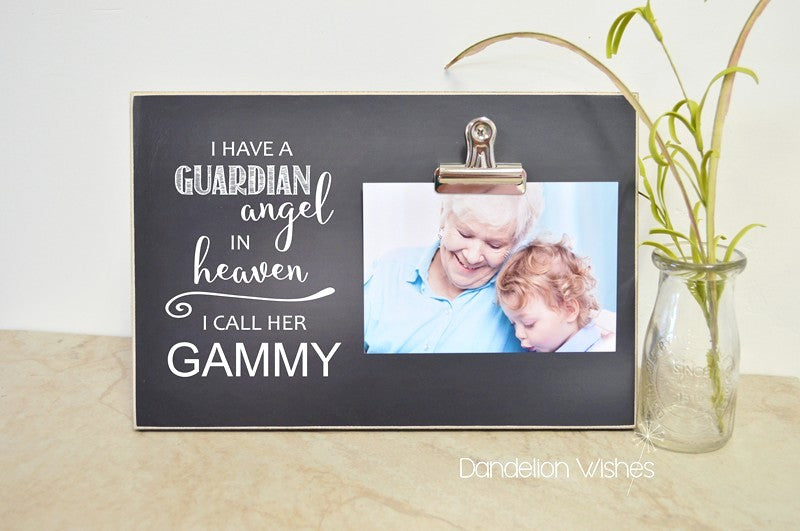 personalized picture frame condolences gift, sympathy gift - i have a guardian angel in heaven