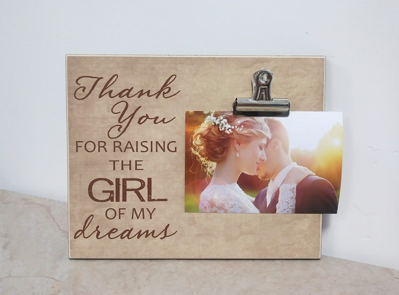 father of the bride gift, thank you for raising the girl of my drems