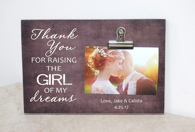 thank you for raising the girl of my dreams gift for parents of the bride