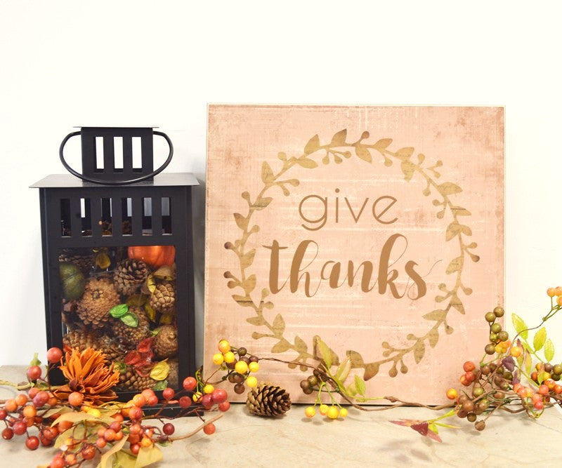 give thanks thanksgiving decoration